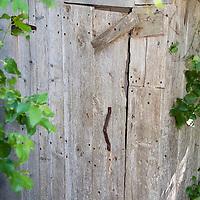 A door in an old barn.