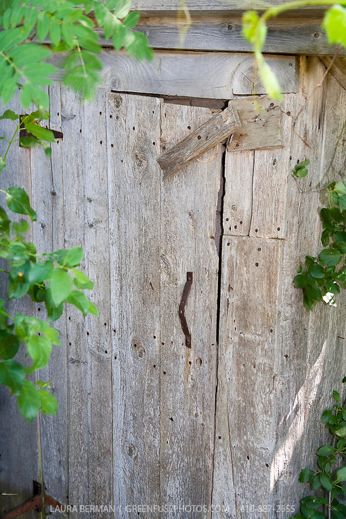 A door in an old barn.