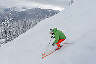 Jeremie Oates skis Walsh's on Aspen Mountain.