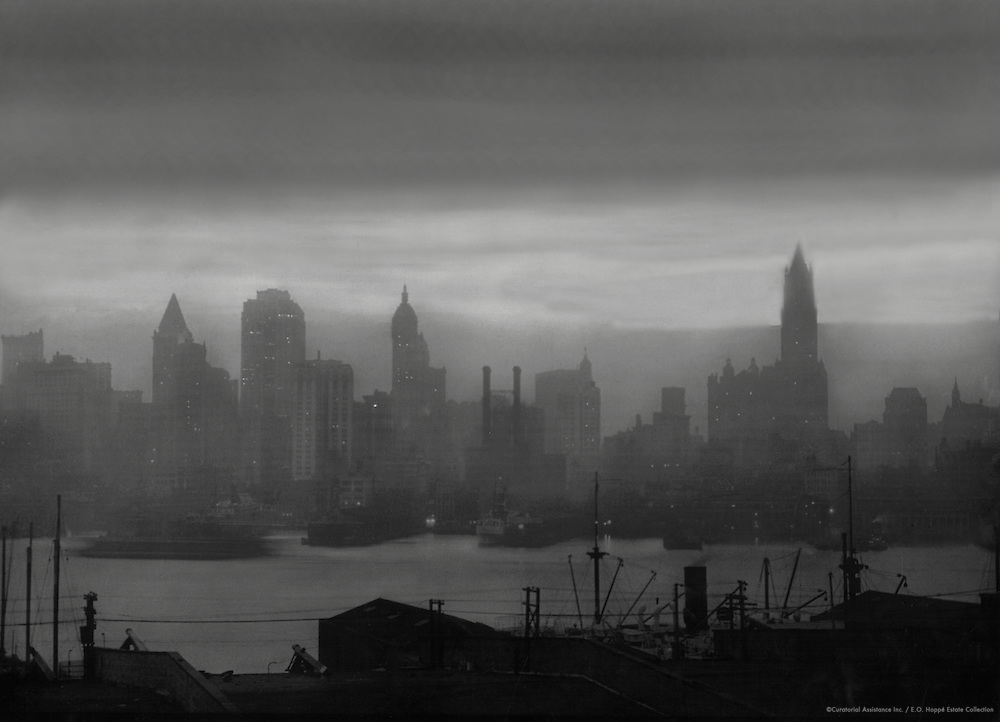 New York City skyline and waterfront, 1921