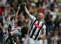 Photo: Lee Earle.<br /> West Bromwich Albion v Hull City. Coca Cola Championship. 05/08/2006. Albion's John Hartson (R) celebrates after scoring their opening goal.