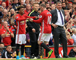 21 May 2017 - Premier League Football - Manchester United v Crystal Palace - Angel Gomez of Manchester United comes on for Wayne Rooney of Manchester United - Photo: Paul Roberts / Offside
