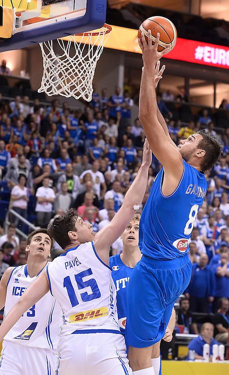 DESCRIZIONE : Berlino Eurobasket 2015 Islanda Italia<br /> GIOCATORE : Danilo Gallinari<br /> CATEGORIA : tiro<br /> SQUADRA : Italia<br /> EVENTO : Eurobasket 2015<br /> GARA : Islanda Italia<br /> DATA : 06/09/2015<br /> SPORT : Pallacanestro<br /> AUTORE : Agenzia Ciamillo&shy;Castoria/R.Morgano<br /> Galleria : Eurobasket 2015<br /> Fotonotizia : Berlino Eurobasket 2015 Islanda Italia