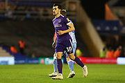 Portsmouth forward John Marquis in action during the EFL Sky Bet League 1 match between Coventry City and Portsmouth at the Trillion Trophy Stadium, Birmingham, England on 11 February 2020.