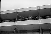 14/07/1972<br /> 07/14/1972<br /> 14 July 1972<br /> Muhammad Ali at Oppermans Country Club Hotel, Kilternan, Co Dublin. Muhammad Ali threatens to jump off the balcony of his room with his brother(centre) and  Manager Angelo Dundee.