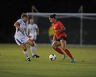 Ole Miss' Rafaelle Souza (6) vs. Memphis' Kelley Gravlin (2) in soccer action at the Ole Miss Soccer Stadium in Oxford, Miss. on Sunday, September 15, 2013. Ole Miss won 3-0.