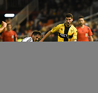 Valencia's Pablo Piatti and Barakaldo's Poma during Spain King Cup match. December 16, 2015. (ALTERPHOTOS/Javier Comos)