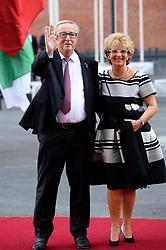 July 7, 2017 - Hamburg, Hamburg, Deutschland - Jean-Claude Juncker mit Gattin Christiane Frising bei der Ankunft zu einem Konzert in der Elbphilharmonie im Rahmen des G20-Gipfel. Hamurg, 07.07.2017 (Credit Image: © Future-Image via ZUMA Press)