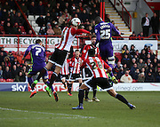 Charlton Athletic striker, Yaya Sanogo (25) with another chance on goal during the Sky Bet Championship match between Brentford and Charlton Athletic at Griffin Park, London, England on 5 March 2016. Photo by Matthew Redman.