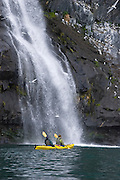 Kayaking Prince William Sound with Alaska Sea Kayaking; Whittier, Alaska.