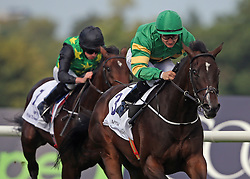 Landfall ridden by Shane Foley (right) wins The Willis Towers Watson Champions Juvenile Stakes during day one of the Longines Irish Champions Weekend at Leopardstown Races.