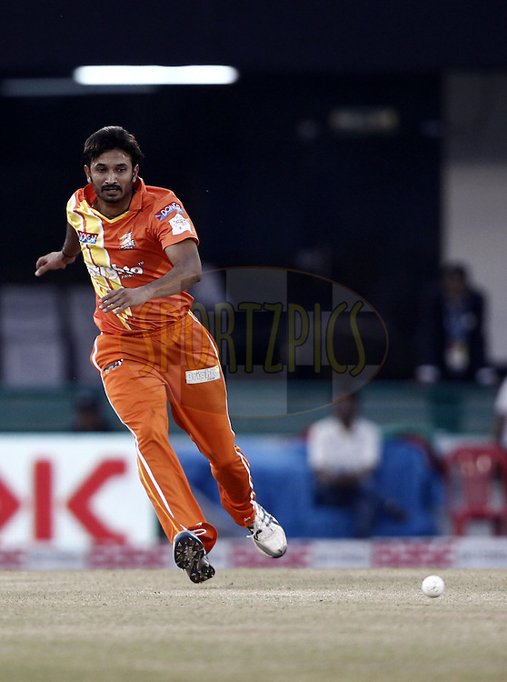 Aizaz Cheema of the LAHORE LIONS during the qualifier 5 match of the Oppo Champions League Twenty20 between the Southern Express and the Lahore Lions held at the Chhattisgarh International Cricket Stadium, Raipur, India on the 16th September 2014<br /> <br /> Photo by:  Deepak Malik / Sportzpics/ CLT20<br /> <br /> <br /> Image use is subject to the terms and conditions as laid out by the BCCI/ CLT20.  The terms and conditions can be downloaded here:<br /> <br /> http://sportzpics.photoshelter.com/gallery/CLT20-Image-Terms-and-Conditions-2014/G0000IfNJn535VPU/C0000QhhKadWcjYs