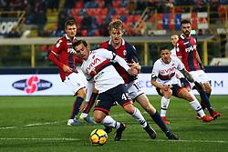 """Foto Filippo Rubin<br /> 24/02/2018 Bologna (Italia)<br /> Sport Calcio<br /> Bologna - Genoa - Campionato di calcio Serie A 2017/2018 - Stadio """"Renato Dall'Ara""""<br /> Nella foto: IURI MEDEIROS (GENOA)<br /> <br /> Photo by Filippo Rubin<br /> February 24, 2018 Bologna (Italy)<br /> Sport Soccer<br /> Bologna vs Genoa - Italian Football Championship League A 2017/2018 - """"Renato Dall'Ara"""" Stadium <br /> In the pic: IURI MEDEIROS (GENOA)"""