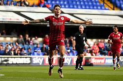 Josh Brownhill of Bristol City celebrates scoring a goal to make it 1-0 - Mandatory by-line: Robbie Stephenson/JMP - 30/09/2017 - FOOTBALL - Portman Road - Ipswich, England - Ipswich Town v Bristol City - Sky Bet Championship