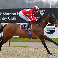 Red Larkspur and Richard Hughes winning the 3.40 race