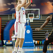 Delaware 87ers Forward Steve Weingarten (24) attempts a 3 point shot in the first half of a NBA D-league regular season basketball game between the Delaware 87ers (76ers) and the Erie BayHawks (Knicks) Monday, Jan 13, 2014 at The Bob Carpenter Sports Convocation Center, Newark, DE