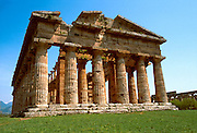 ITALY, GREEK CULTURE Paestum; Doric Temple of Neptune