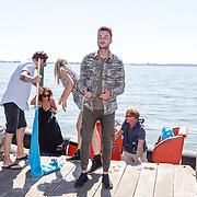 NLD/Muiden/20160825 - Perspresentatie deelnemers Expeditie Robinson 2016, Dave Roelvink