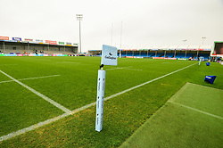 A general view of Gallagher Premiership Rugby branding prior to kick off - Mandatory by-line: Ryan Hiscott/JMP - 24/11/2018 - RUGBY - Sandy Park Stadium - Exeter, England - Exeter Chiefs v Gloucester Rugby - Gallagher Premiership Rugby