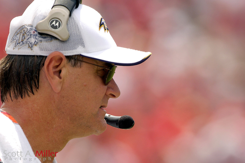 Sept. 10, 2006; Tampa, FL, USA; Baltimore Ravens coach Brian Billick during his team's game against the Tampa Bay Buccaneers  at Raymond James Stadium. ©2006 Scott A. Miller