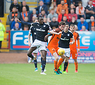 July 30th 2017, Dundee, Scotland; Betfred Cup football, group stages, Dundee versus Dundee United; Dundee's Dundee&rsquo;s Glen Kamara and Dundee United's Sam Stanton<br /> <br />  - Picture by David Young - www.davidyounghoto@gmail.com - email: davidyoungphoto@gmail.com