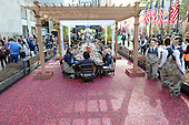 11/03/2015 Ocean Spray Cranberry Bog at Rockefeller Center with Chef Curtis Stone