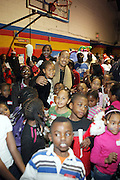 "Ludacris aka Chris Bridges at The Ludacris Foundation's Holiday Party co-sponsored by Alize at the Mount Vernon Boys Club on December 18, 2008 in Mount Vernon, New York..Chris ""Ludacris"" Bridges, William Engram and Chaka Zulu were the inspiration for the development of The Ludacris Foundation (TLF). The foundation is based on the principles Ludacris learned at an early age: self-esteem, spirituality, communication, education, leadership, goal setting, physical activity and community service. Officially established in December of 2001, The Ludacris Foundation was created to make a difference in the lives of youth. These men have illustrated their deep-rooted tradition of community service, which has broadened with their celebrity status. The Ludacris Foundation is committed to helping youth help themselves"