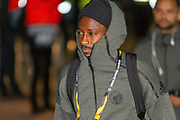 Dame N'Doyle of FC Copenhagen arrives at teh entrance of Parkhead ahead of the Europa League match between Celtic and FC Copenhagen at Celtic Park, Glasgow, Scotland on 27 February 2020.
