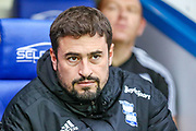 Birmingham City Manager Pep Clotet during the EFL Sky Bet Championship match between Reading and Birmingham City at the Madejski Stadium, Reading, England on 7 December 2019.