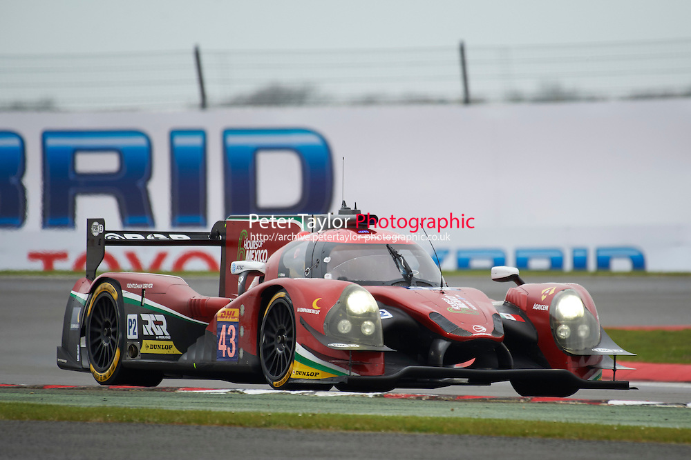Ricardo Gonzalez (MEX) / Filipe Albuquerque (PRT) / Bruno Senna (BRA) #43 RGR Sport by Morand Ligier JS P2 Nissan,  at Silverstone, Towcester, Northamptonshire, United Kingdom. April 15 2016. World Copyright Peter Taylor.