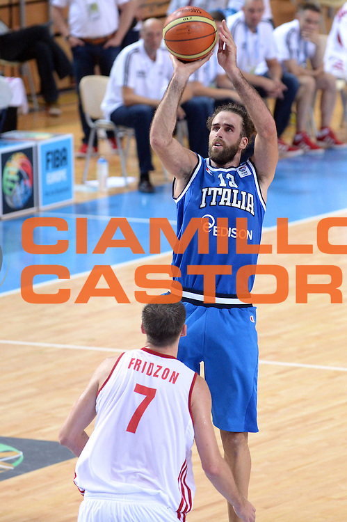DESCRIZIONE : Capodistria Koper Slovenia Eurobasket Men 2013 Preliminary Round Russia Italia Russia Italy<br /> GIOCATORE : Luigi Datome <br /> CATEGORIA : Tiro<br /> SQUADRA : Italia<br /> EVENTO : Eurobasket Men 2013<br /> GARA : Russia Italia Russia Italy<br /> DATA : 04/09/2013 <br /> SPORT : Pallacanestro&nbsp;<br /> AUTORE : Agenzia Ciamillo-Castoria/Max.Ceretti<br /> Galleria : Eurobasket Men 2013 <br /> Fotonotizia : Capodistria Koper Slovenia Eurobasket Men 2013 Preliminary Round Russia Italia Russia Italy<br /> Predefinita :