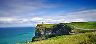 The Cliffs of Moher overlook the Atlanic Ocean in county Clare, Ireland.