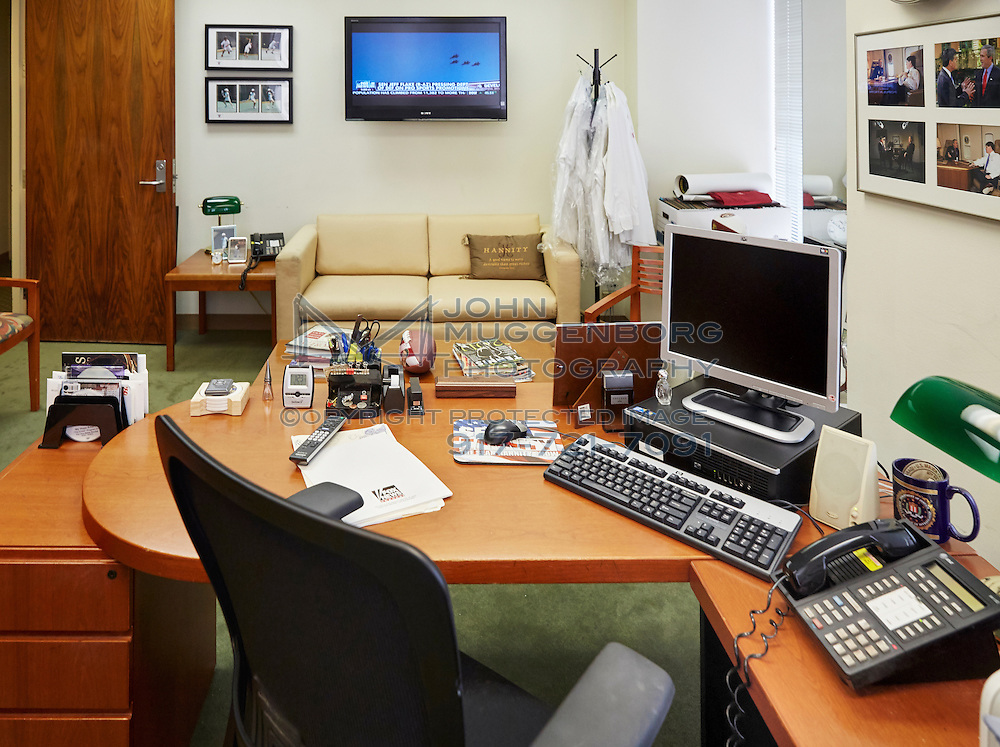 The office of Sean Hannity at the Fox News headquarters in NYC. Photographed by John Muggenborg.
