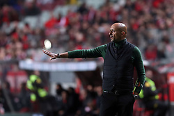 February 3, 2018 - Lisbon, Portugal - Rio Ave's head coach Miguel Cardoso gestures during the Portuguese League football match SL Benfica vs Rio Ave FC at the Luz stadium in Lisbon on February 3, 2018. (Credit Image: © Pedro Fiuza/NurPhoto via ZUMA Press)