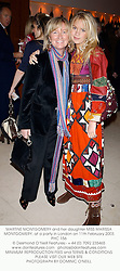 MARTINE MONTGOMERY and her daughter MISS MARISSA MONTGOMERY, at a party in London on 11th February 2003.PHC 156