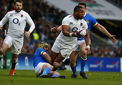 March 9, 2019 - London, England, United Kingdom - London, ENGLAND, 9th March .Joe Cokanasiga of England.during the Guinness 6 Nations Rugby match between England and Italy at Twickenham  stadium in Twickenham  England on 9th March 2019. (Credit Image: © Action Foto Sport/NurPhoto via ZUMA Press)