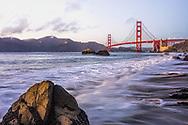 Sunset on the Golden Gate Bridge, San Francisco, California