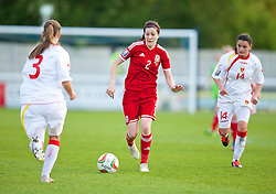 BANGOR, WALES - Thursday, May 8, 2014: Wales' Nicola Cousins in action against Montenegro during the FIFA Women's World Cup Canada 2015 Qualifying Group 6 match at the Nantporth Stadium. (Pic by David Rawcliffe/Propaganda)
