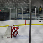 Boston University goal tender Erin O'Neil during the UConn Vs Boston University, Women's Ice Hockey game at Mark Edward Freitas Ice Forum, Storrs, Connecticut, USA. 5th December 2015. Photo Tim Clayton