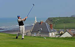 NORMANDY, FRANCE - MAY-01-2007 - Arnaud Roy of Caen, France tees off on hole 7 of La Mer. Omaha Beach Golf Club - Course: La Mer (The Sea) - Hole 7 - 437 yards - Par 4.(Photo © Jock Fistick)