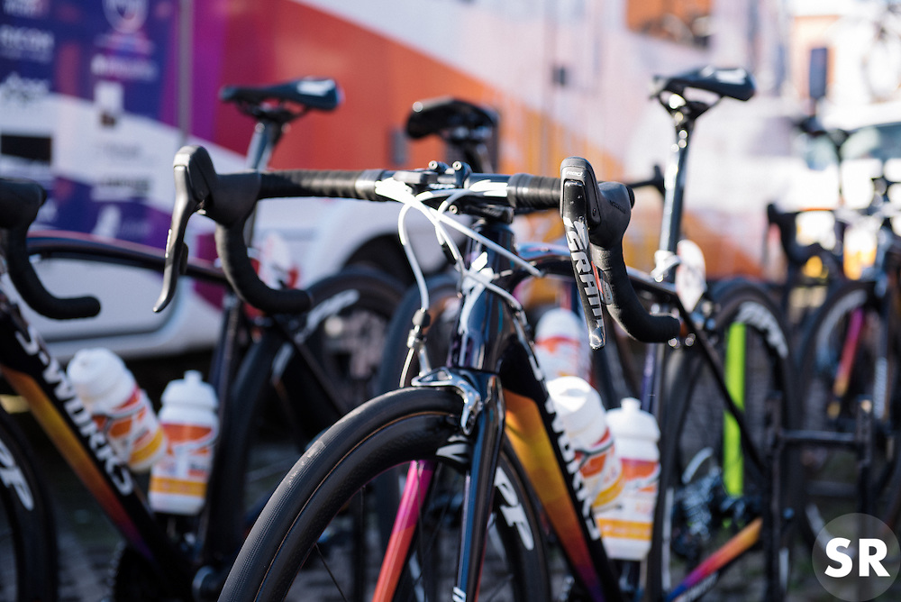 Boels Dolmans' Specialized Amiras ready to race - Le Samyn des Dames 2016, a 113km road race from Quaregnon to Dour, on March 2, 2016 in Hainaut, Belgium.