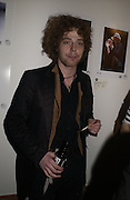 Alan Ross, Babyshambles Exhibition , Photographs by Danny Clifford <br />The Old Sony Ericsson Proud Galleries, Greenland St. Camden, London  5 December  2005. ONE TIME USE ONLY - DO NOT ARCHIVE  © Copyright Photograph by Dafydd Jones 66 Stockwell Park Rd. London SW9 0DA Tel 020 7733 0108 www.dafjones.com