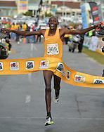 PORT ELIZABETH, SOUTH AFRICA - JULY 30: Edwin Koech of Kenya during the SA Half Marathon Championships on July 30, 2016 in Port Elizabeth, South Africa. (Photo by Roger Sedres/Gallo Images)