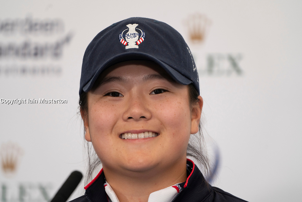 Auchterarder, Scotland, UK. 10 September 2019. Press conference by team at Gleneagles. Pictured Angel Yin of USA. Iain Masterton/Alamy Live News