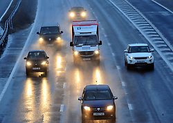 © Licensed to London News Pictures. 20/11/2016<br /> Wet and windy driving conditions on the M25 at Swanley j3,Kent from Storm Angus over night and into this morning.<br /> <br /> <br /> Photo credit :Grant Falvey/LNP