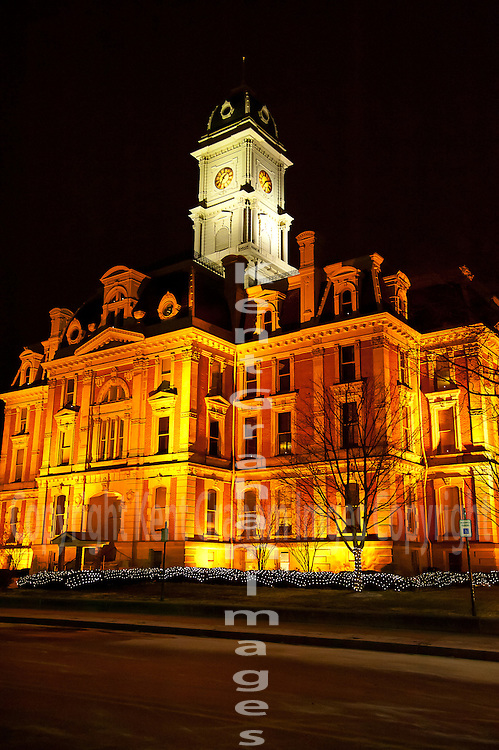 Court house with Christmas Decorations