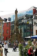 Würzburg..barocker Vierröhrenbrunnen, geschaffen um 1765 von L. v. d. Auvera und Peter Wagner