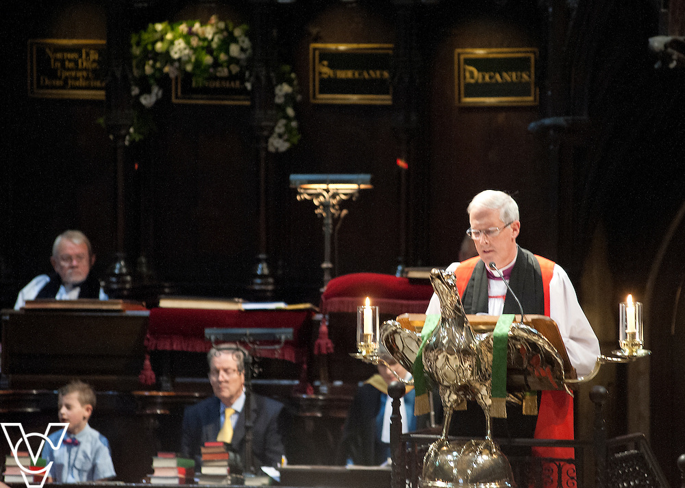 Rev Mark Steadman is installed as Archdeacon of Stow and Lindsey during a service of Evensong at Lincoln Cathedral.<br /> <br /> Picture: Chris Vaughan/Chris Vaughan Photography<br /> Date: October 10, 2015
