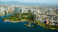 Aerial view of the Lake Merritt area of  Oakland California
