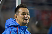 Sutton United manager, Paul Doswell during the Vanarama National League match between Sutton United and Forest Green Rovers at Gander Green Lane, Sutton, United Kingdom on 14 March 2017. Photo by Adam Rivers.